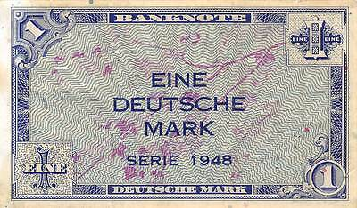 Germany 1 Deutsche Mark  Series of 1948  circulated Banknote 5D