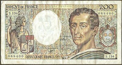 Banque De France , 200 Francs , 1992 , P 155e , Serie Varies