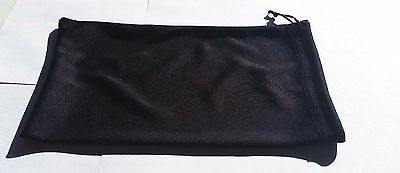 Qty 2 Ski Snowmobile Winter Outdoor Motorcycle Goggle Storage Bag Soft Black NEW