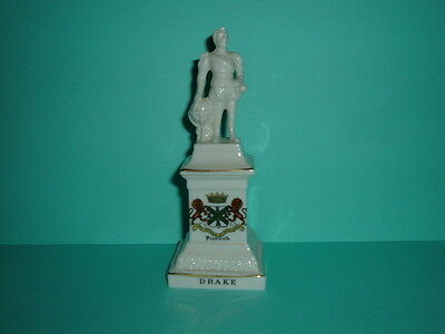 Rare Arcadian China 'sir Francis Drake' Statue - Crested Plymouth - Ex. Con.
