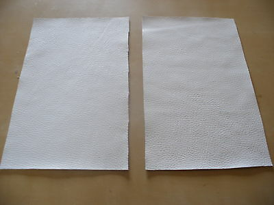 White Leather Offcuts Craft Pieces Top Quality