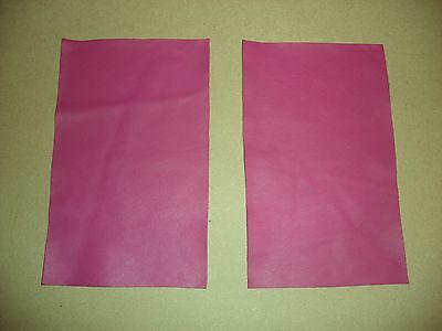 Pink Raspberry Leather Offcuts Craft Pieces Top Quality