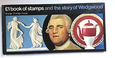 £1 Book of stamps and the Story of Wedgwood , 1/2p sideband, trimmed perfs