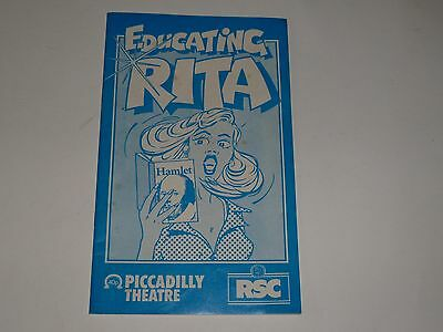 Educating Rita RSC Programme Willy Russell