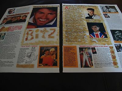 George Michael Magazine Clipping - Scrapbooking Clippings