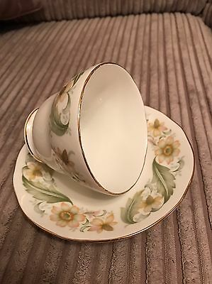 Duchess Bone China Cup and Saucer, Greensleeves