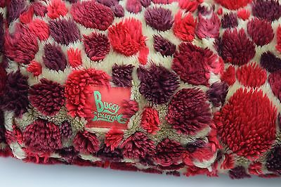'Buggy Snuggle' Red Beige Maroon Dotty Furry Buggy Liner Cozy Warm Zipp Up
