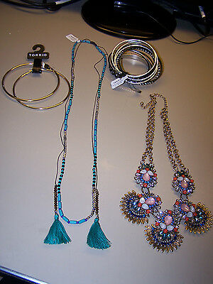 Torrid Womens Lot Of 15 Jewelry Bracelets Necklaces Earrings Ring New $100 Value