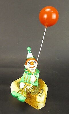 Vintage Ron Lee Clown with Balloon Signed
