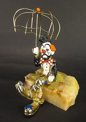 Vintage Ron Lee Clown with Umbrella Signed 1979