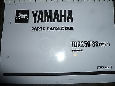 Yamaha Tdr 250 3Ck1 88 Parts List Manual Catalogue 183Ck-300E1 Ypvs