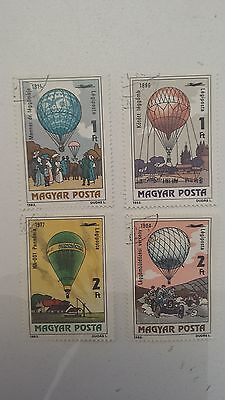 LOT Collection 4 Timbres BALLON DIRIGEABLE - DIVERS