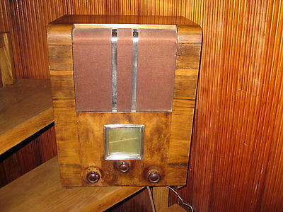 POSTE RADIO TSF CONTINENTAL A LAMPE ANCIEN collection