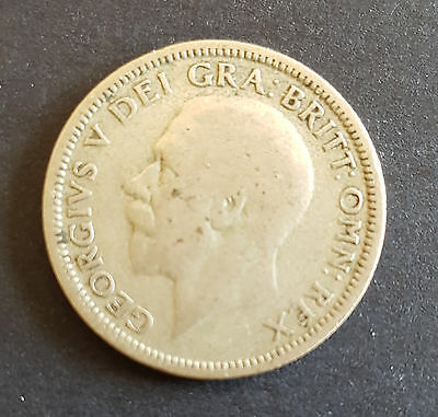 1927 UK Silver Coin One Shilling - George V