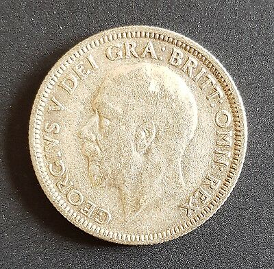 1929 UK Silver Coin One Shilling - George V