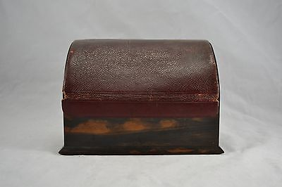 Antique Victorian Houghton & Gunn Coromandel & Morocco Leather Stationary Box