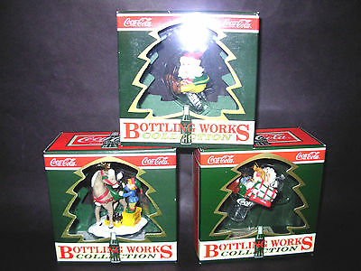 Coca-Cola Ornaments 'bottling Works Collection' 'in Original Boxes' 'set Of 3'