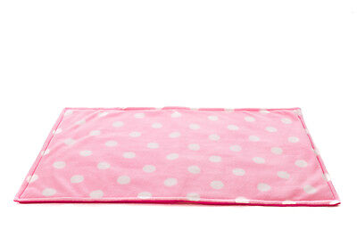 WATERPROOF Guinea Pig, small animal fleece cage liner pink Polka size 120x59cm