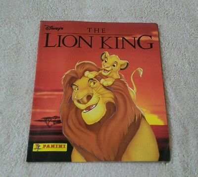 Vintage Rare Disney's Panini The Lion King Used In Good Condition