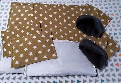 2 WATERPROOF Guinea Pig and small animal  fleece liners 80x44 set stars 1