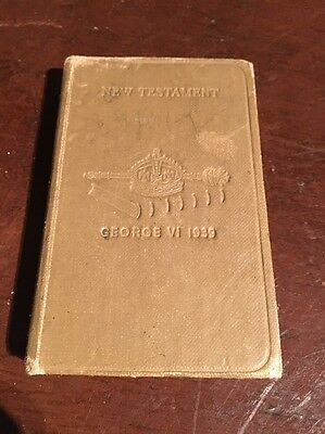George Vi 1939 New Testament Armed Forces Bible WW2 Militaria
