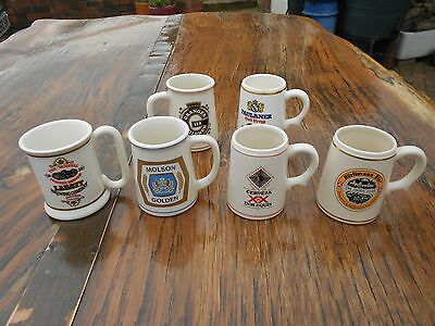 5 Franklin Porcelain Tankards of the World's Great Breweries 1981 + 1 other