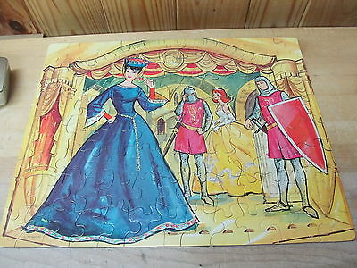Vintage Barbie and Ken Jigsaw Puzzle 1964 Whitman 4604 Royal Queen Court
