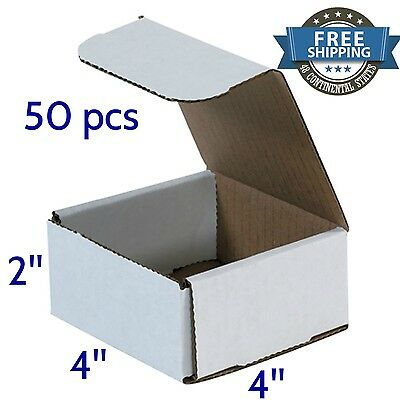 Small Strong Cardboard Shipping Boxes 50 Pack 4x4x2 Corrugated Delivery Supplies