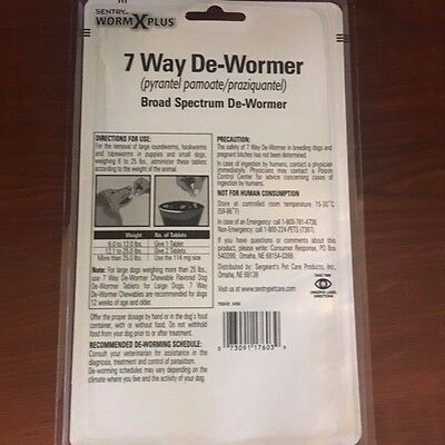 Sentry Worm X Plus 7 Way De-Wormer for puppies & Small Dogs 6 lbs - 25 lbs