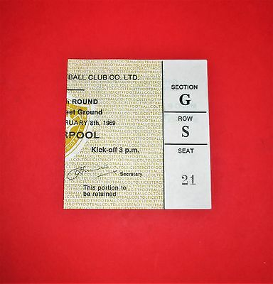 LEICESTER CITY  v LIVERPOOL FC FA CUP 5th rd 1968/69