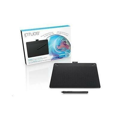 """Wacom Intuos CTH-690, Art Medium Creative Pen and Touch 5.3"""" x 8.5"""" Black with A"""