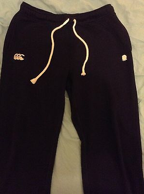 Mens England Rugby Canterbury Large Fleece Tracksuit Bottoms