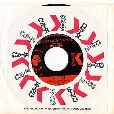 James Brown vinyl record  7inch 45rpm (Its A New Day)