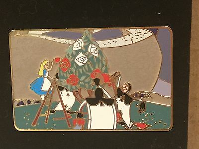 Disney Auctions Alice In Wonderland & Cards Painting Roses Scene LE 500 Pin RARE