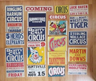 Vtg Circus Poster Collection 1960-70s w/ RBBB Posters, Date Sheets, Titles (20)