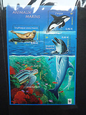 WWF Stamps France Marine Life ANIMAUX MARINSWF SS MNH