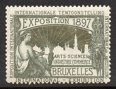 Brussells 1897  Exposition  poster stamp