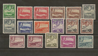 Antigua 1938 Set MNH/Unmounted mint with shades