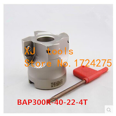 BAP300R-40-22-4T 90 Degree Right Angle Shoulder Face Mill Head CNC Milling Cutte
