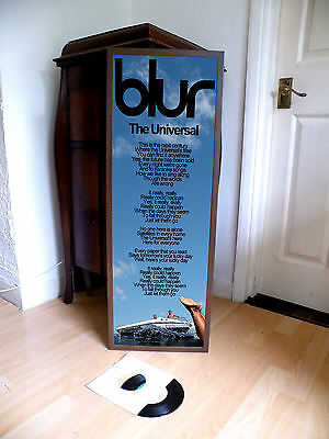 Blur The Universal Promotional Poster Lyric Sheet,brit Pop,indie,great Escape