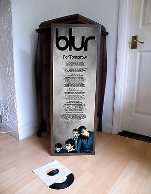 Blur For Tomorrow Promotional Poster Lyric Sheet,brit Pop,indie,great Escape