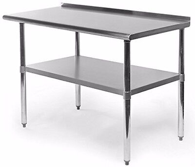 Commercial Restaurant Equipment Kitchen Work And Prep Table With Backlash Steel