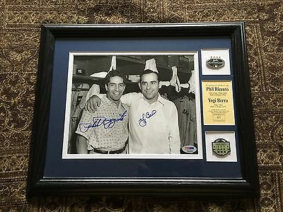 Yogi Berra And Phil Rizzuto Signed Framed Limited To 10 ..photo Psa/dna Letter..