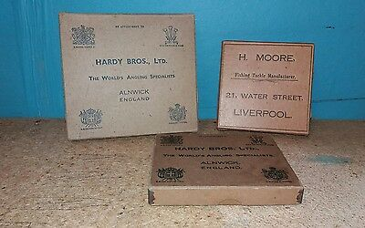 Hardy Card Boxes, Vintage Fly Fishing.
