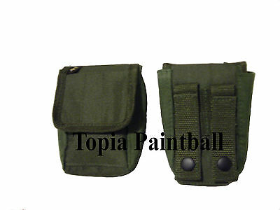 2 Pack Airsoft Vest Smoke Pouch, Molle Grenade Pouch OLIVE -  Molle Pouch & Belt