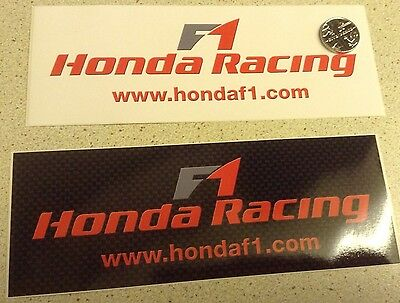 Honda F1 Racing Official Stickers x 2