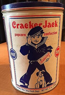 Cracker Jack 1990 Vintage Antique Style Collectors Decorative Advertising  Can