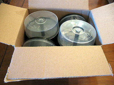 8 EMPTY Spindle CAKE BOXES CASES hold up to 25 CD/DVD Discs each UEC