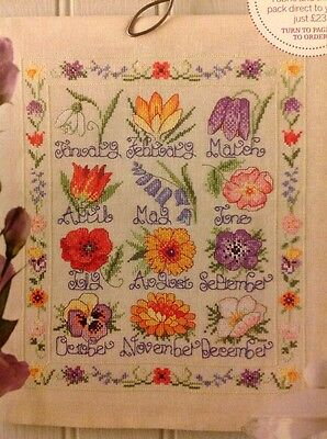 (G) A Year In Bloom Flower Sampler Cross Stitch Chart
