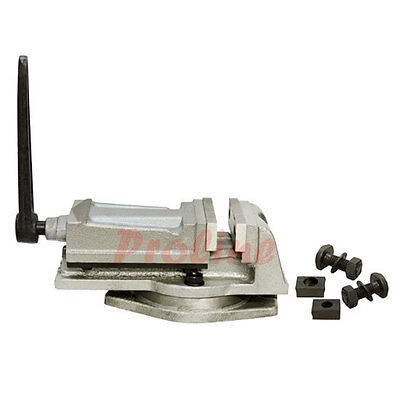 Heavy Duty 4'' Swivel Base Milling Machine Vise w/ Ruler 3-1/8'' Jaw Opening